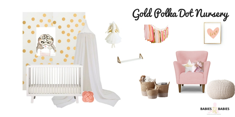 Gold Polka Dot Nursery