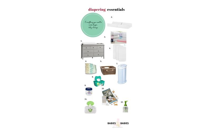 baby diapering essentials