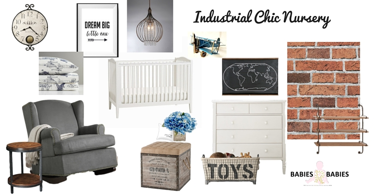 Industrial Chic Nursery Design Board