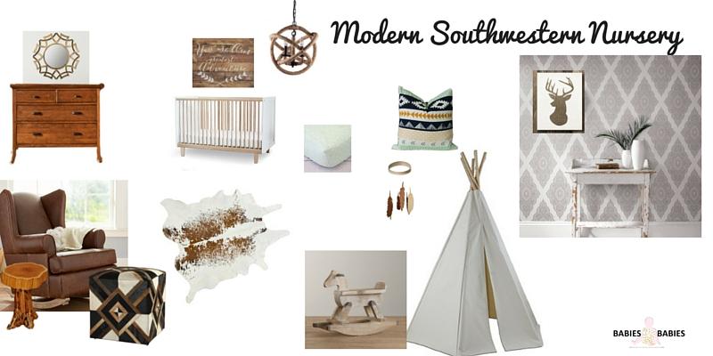 Modern Southwestern Nursery Design Board