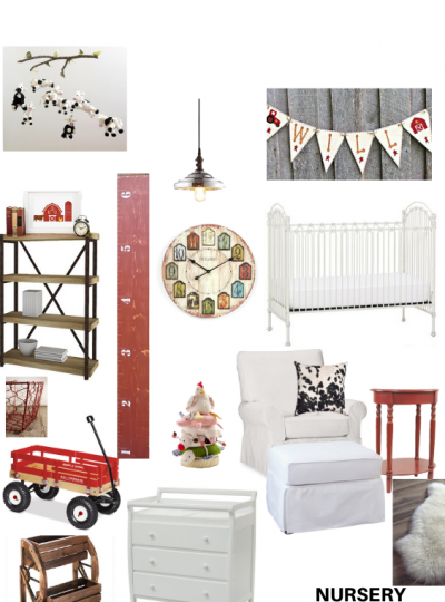 country chic fixer upper nursery design