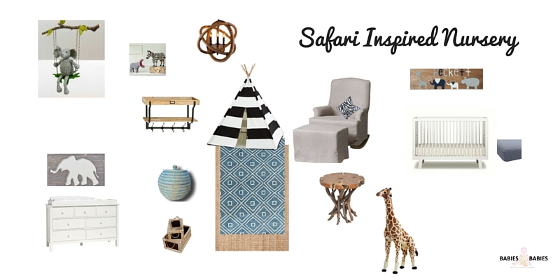 Safari Inspired Nursery Design Board