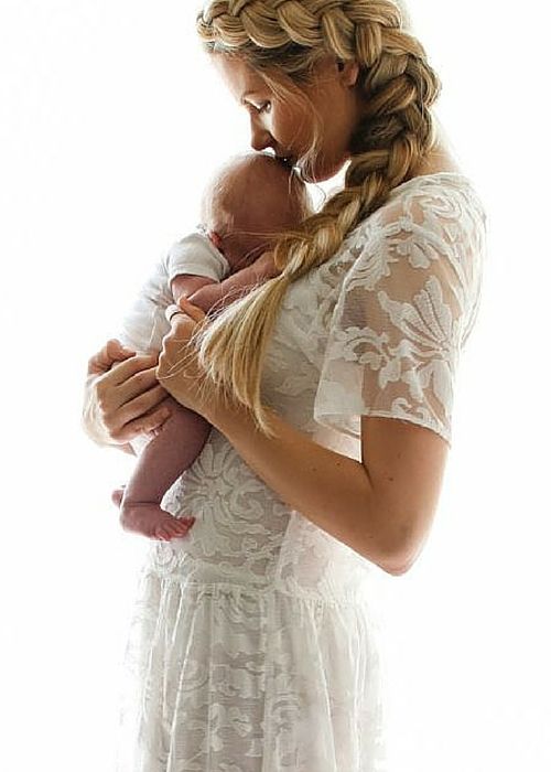 mom and baby photoshoot