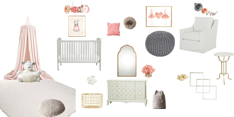 Peach and Gray Nursery Design
