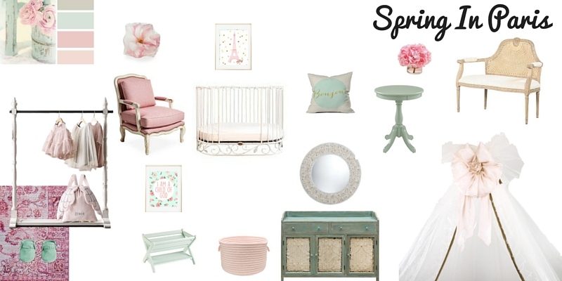 Spring in Paris Nursery Design