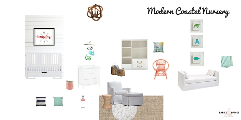 Modern Coastal Nursery Design Board