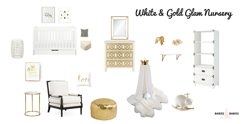 White and Gold Glam Nursery