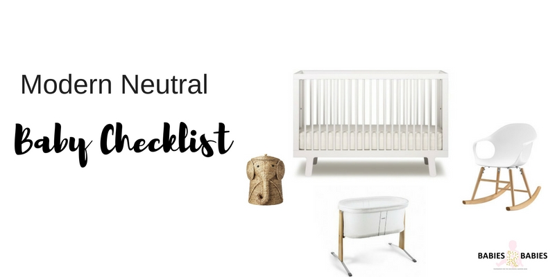 Baby Checklist: Modern Neutral Registry