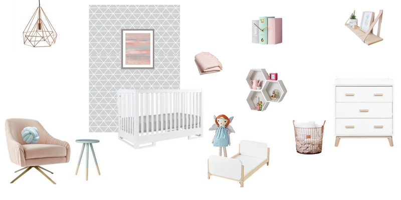 Rose Quartz and Serenity Nursery Design