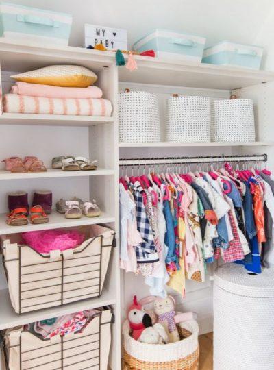 nursery closet ideas with great organization