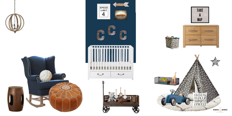 Industrial modern baby boy nursery