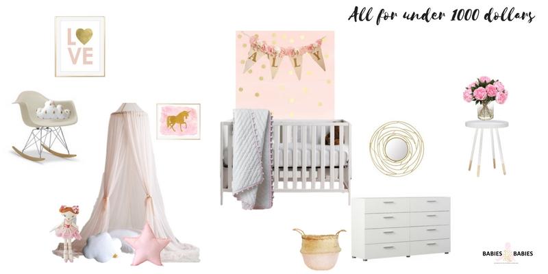 Modern Baby Nursery On a Budget