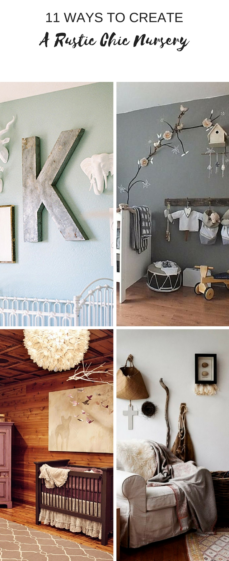 rustic chic nursery designs