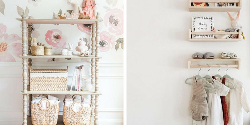 Baby Nursery Shelf ideas that are Gorgeous and Functional