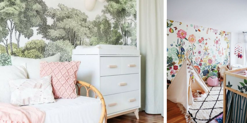 17 Dreamy Nursery Designs with Wallpaper