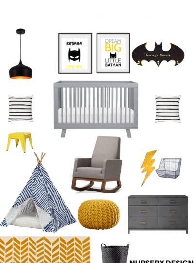 modern batman nursery