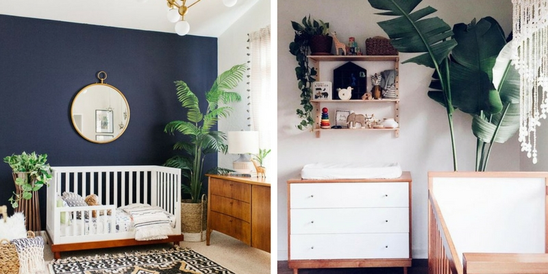 Breathtaking ways to add plants to a baby nursery