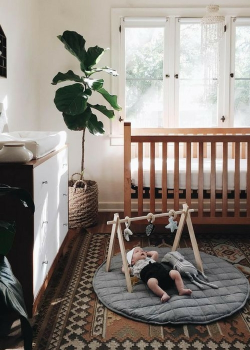 add plants to a baby nursery
