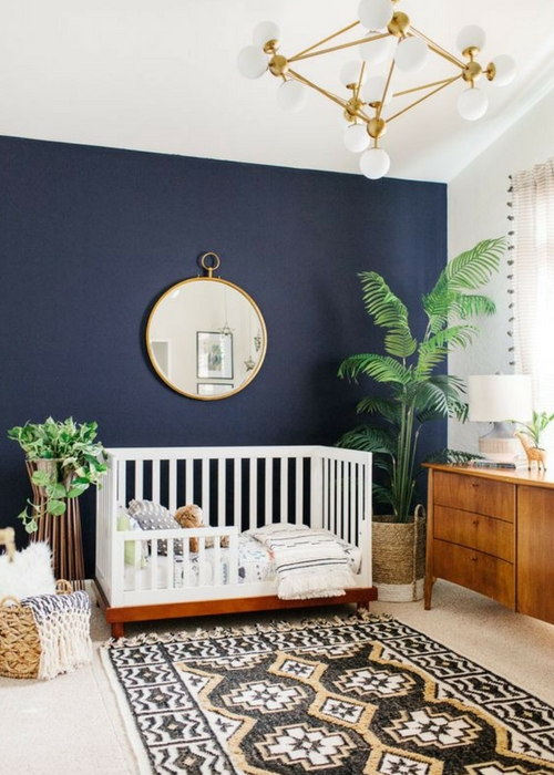 decorate the nursery with plants