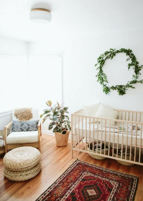 decorate a nursery with plants