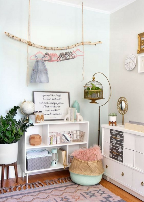 decorate nursery with plants