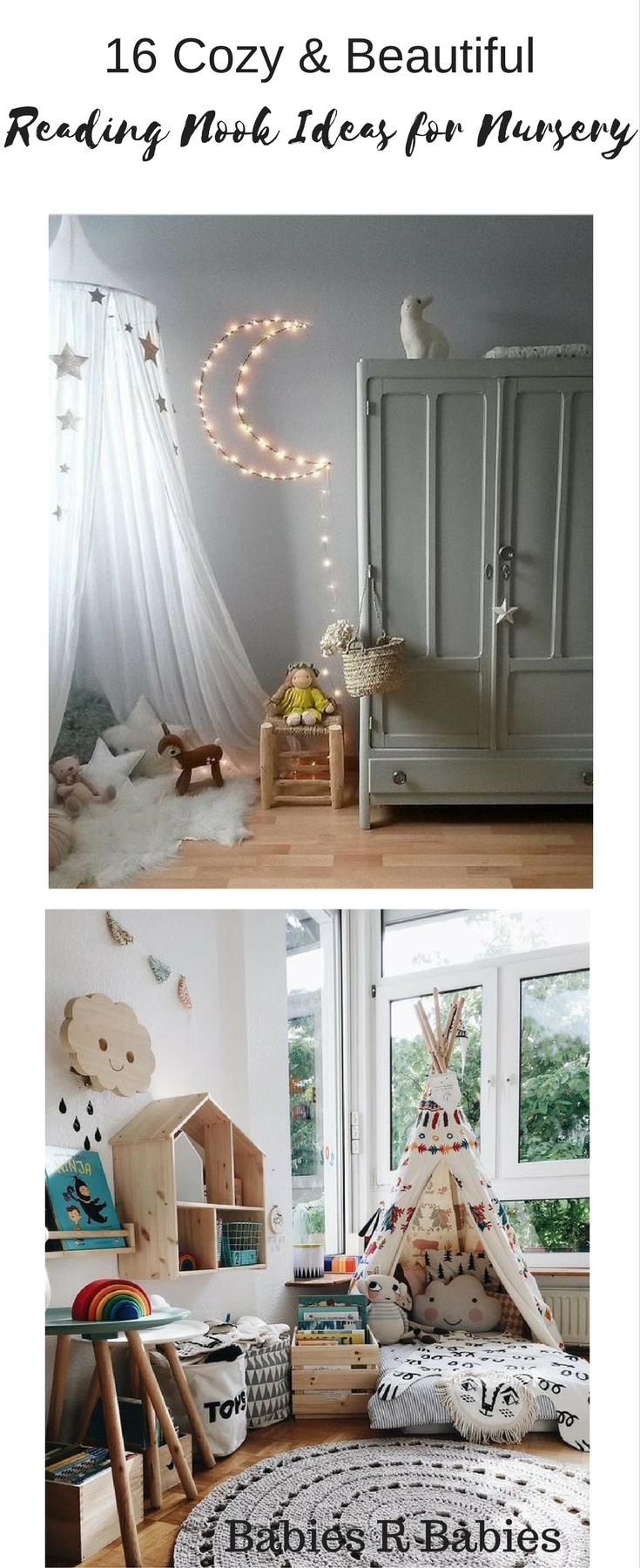 16 Cozy and Beautiful Reading Nook Ideas for Baby's Nursery