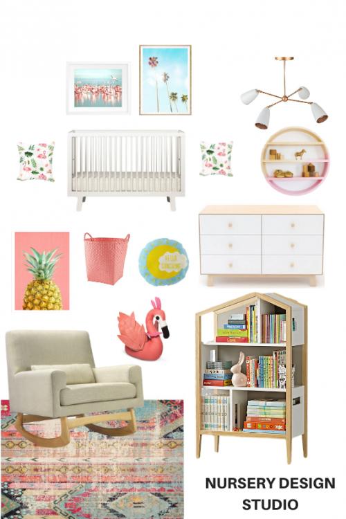 Tropical Flamingo Nursery 1 Nursery Design Studio