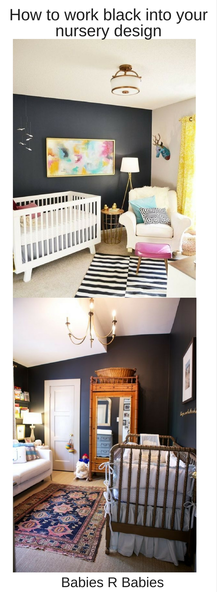 13 ways to work black into your nursery design