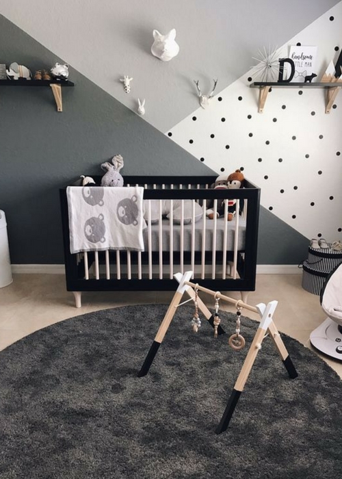 Baby Nursery Designs with black paint