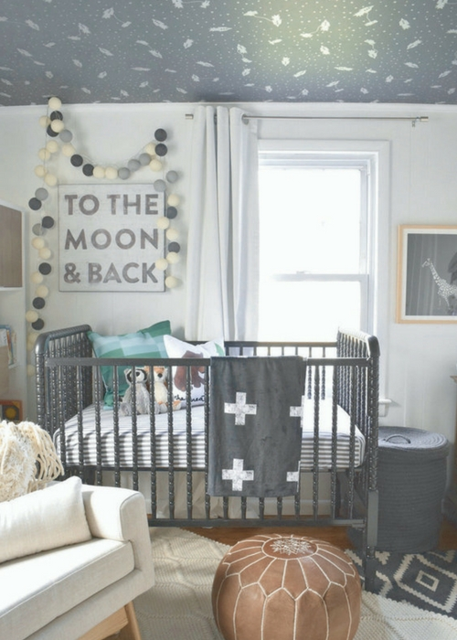 Black paint in nursery design