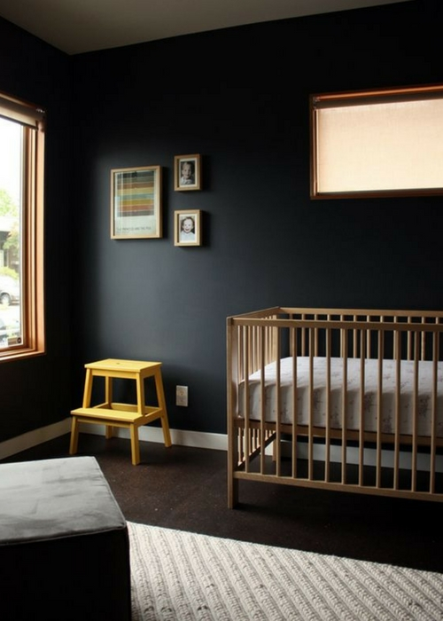 Nursery Designs with black pain