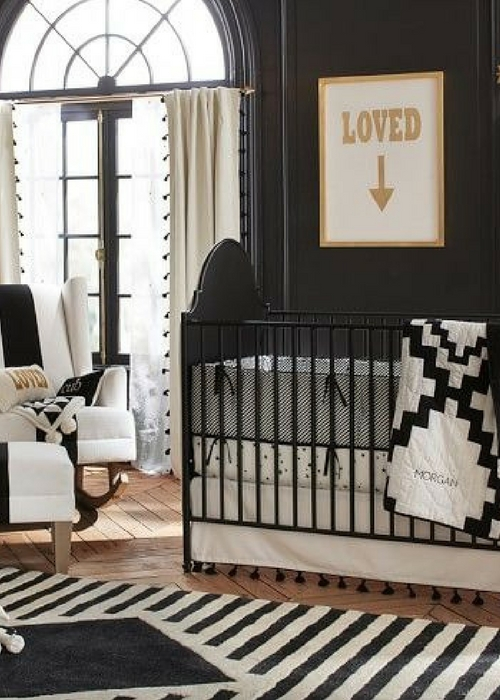 nursery with black