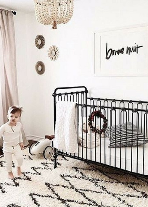 black accents in nursery designs