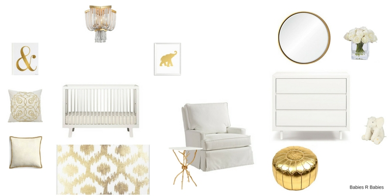 Gold and White Nursery Design