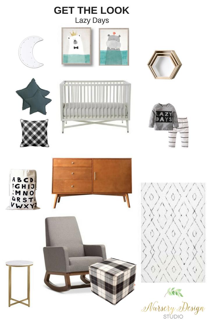 A modern cozy nursery design that exudes warmth and comfort. #cozynursery #modernnursery #hyggenursery