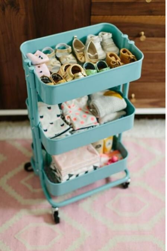 nursery storage for baby shoes