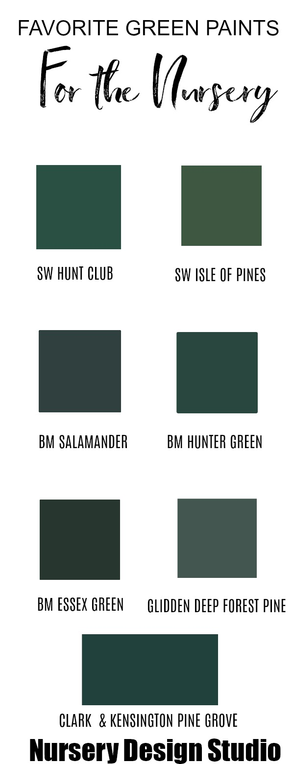 BEST GREEN PAINT COLORS FOR A NURSERY