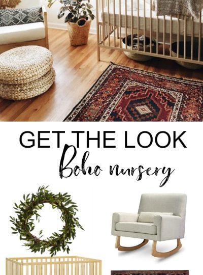 stylish bohemian nursery