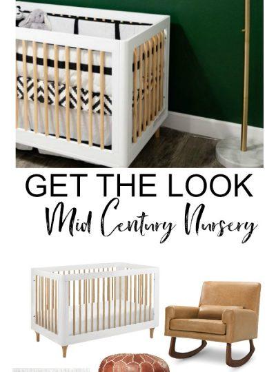 green mid century modern nursery