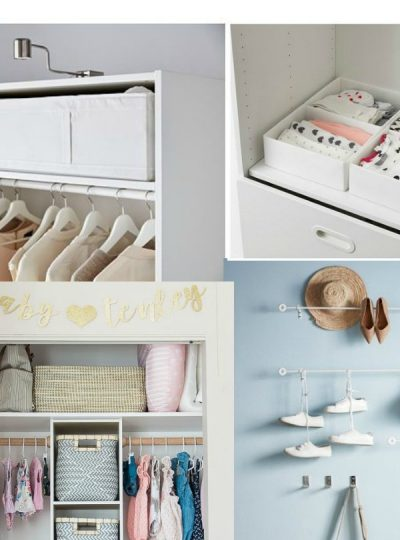 UNDER $15 IKEA FINDS FOR ORGANIZING THE NURSERY CLOSET