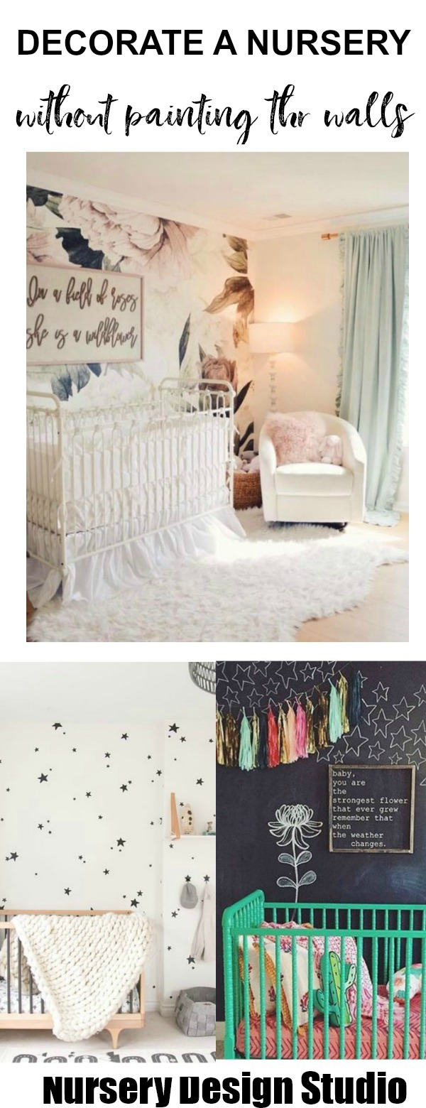 decorate the nursery without painting the walls