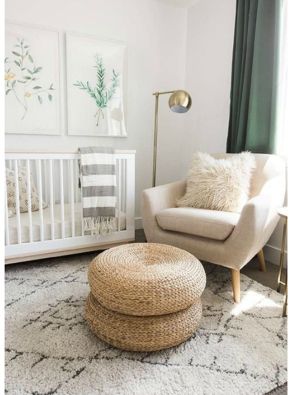 decorate the nursery without painting walls