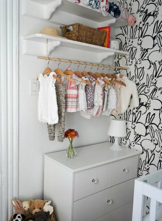 How to organize baby clothes without a closet nursery - How to organize clothes without a closet ...