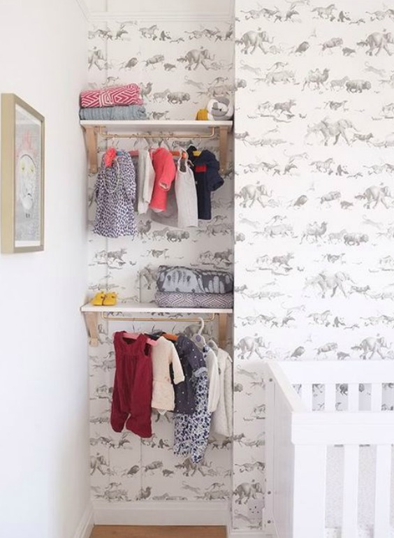 how to organize baby clothes without a closet