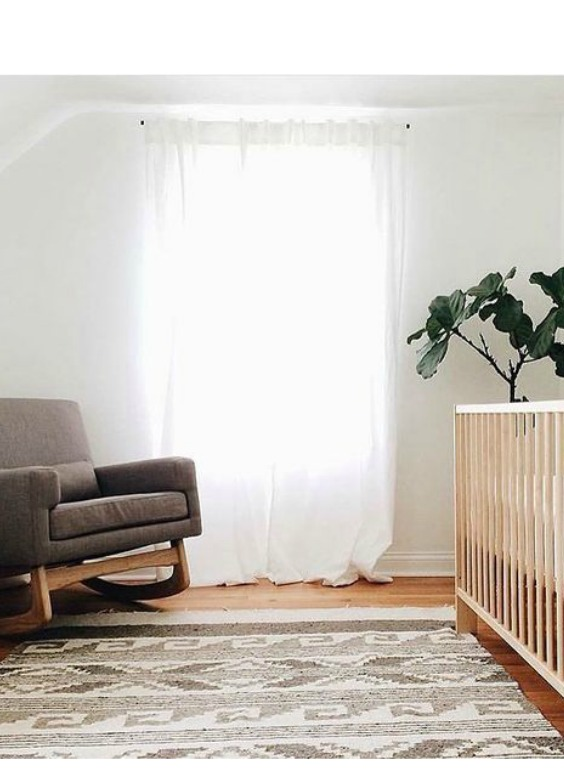 minimalist twin nursery