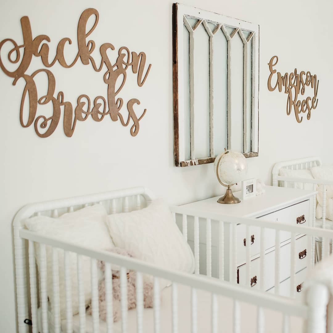 modern farmhouse twin nursery