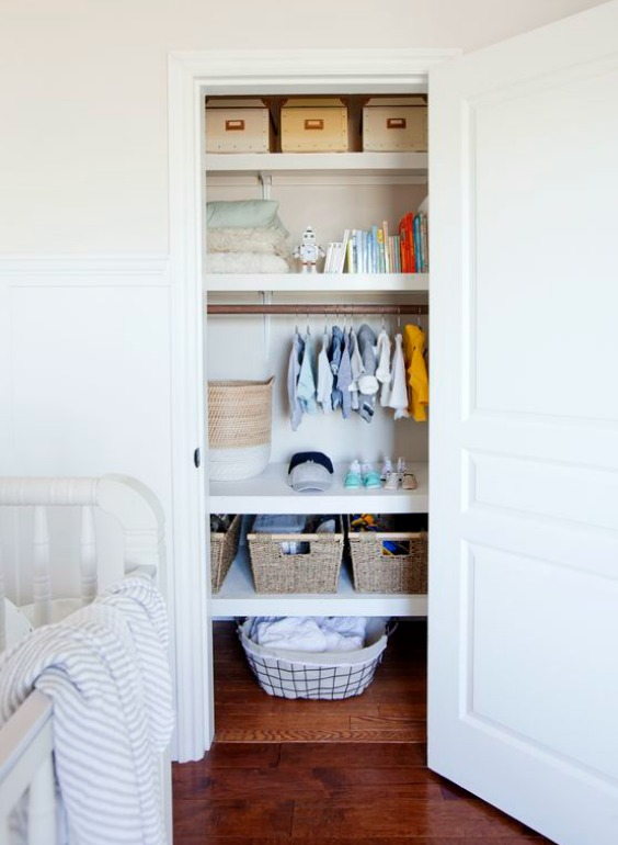 Small Nursery Closet Ideas How To Maximize Space And Store More Nursery Design Studio