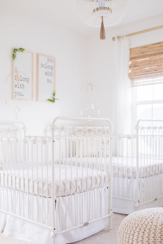 timeless twin nursery design