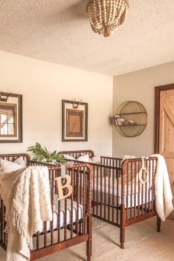 farmhouse twin nursery design