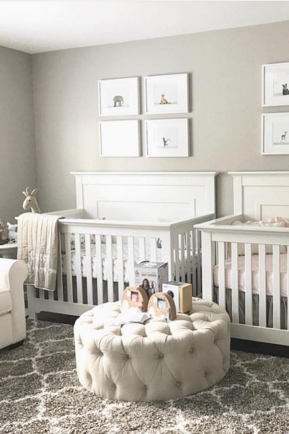 grey twin nursery